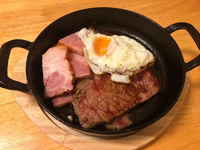 イチボとベーコンのステーキ