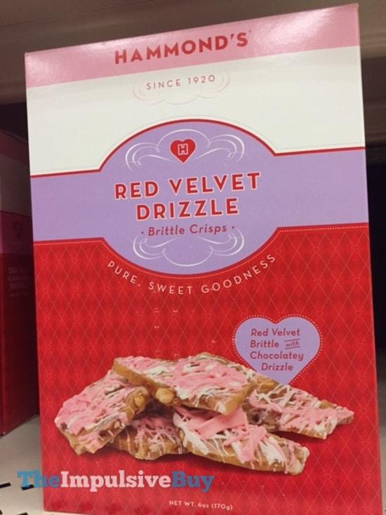 Hammond's Red Velvet Drizzlee Brittle Crisps