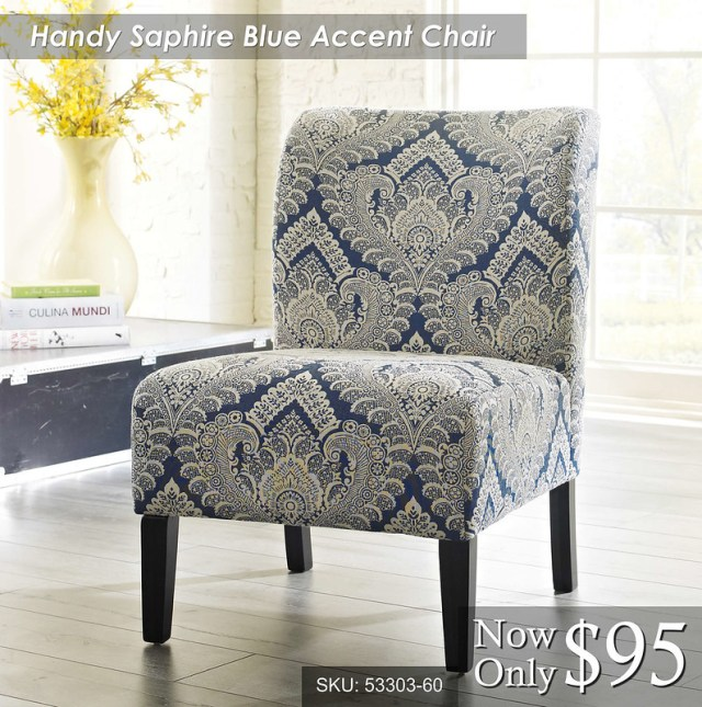 Handy Saphire Blue Accent Chair