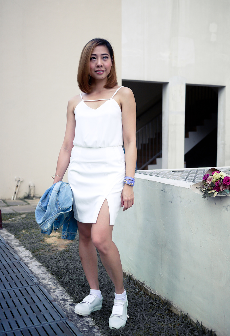 White Sneakers Outfit Singapore Fashion