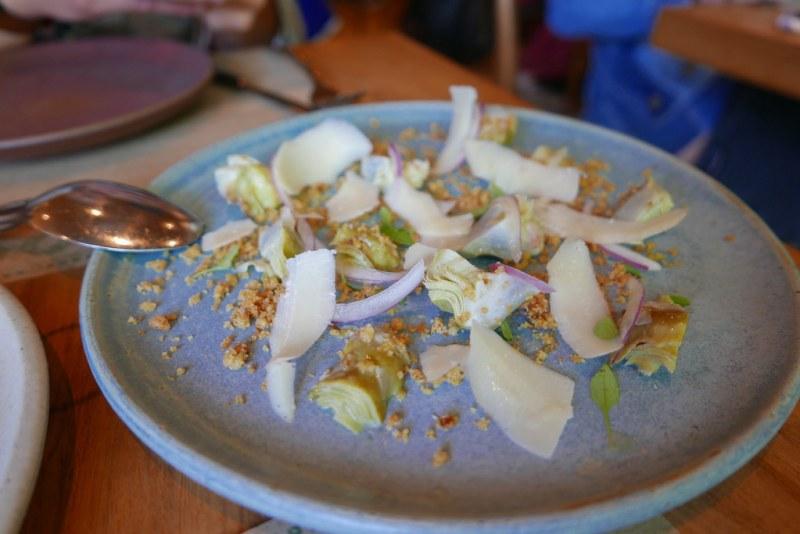 Young artichoke, mollica di pane & nocellara olive oil ($17)