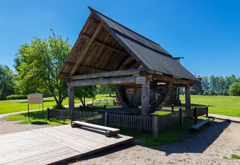 Колёсный колодец, Музей деревянного зодчества, Суздаль