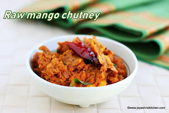 Raw mango thogayal