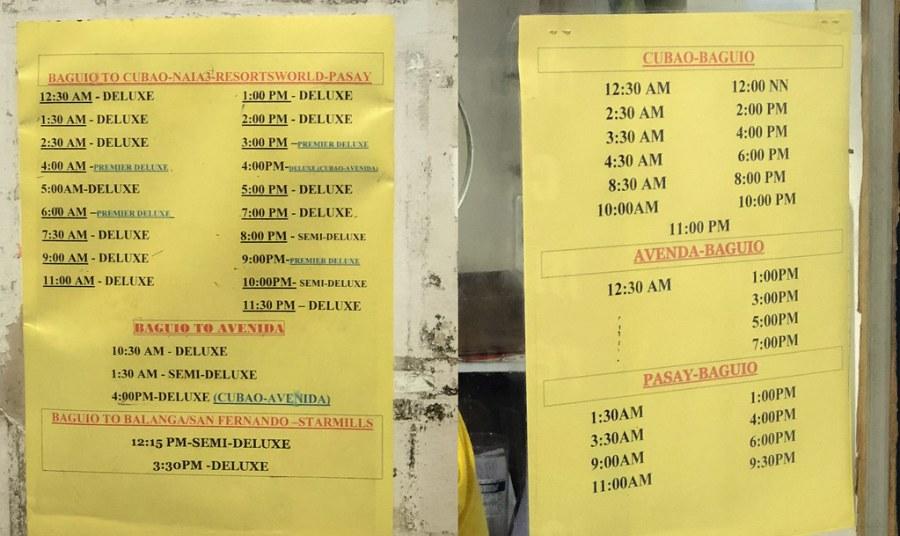JOY BUS PREMIER CLASS schedule