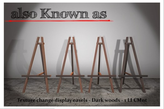 also Known as - Texture change easels - Dark Woods