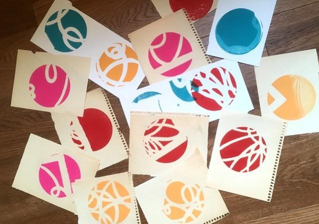 Printing cut paper