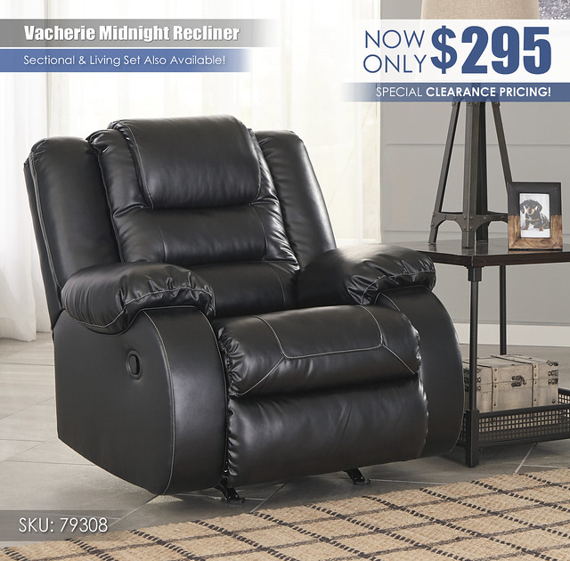 Vacherie Midnight Recliner_CLEARANCE_79308-25