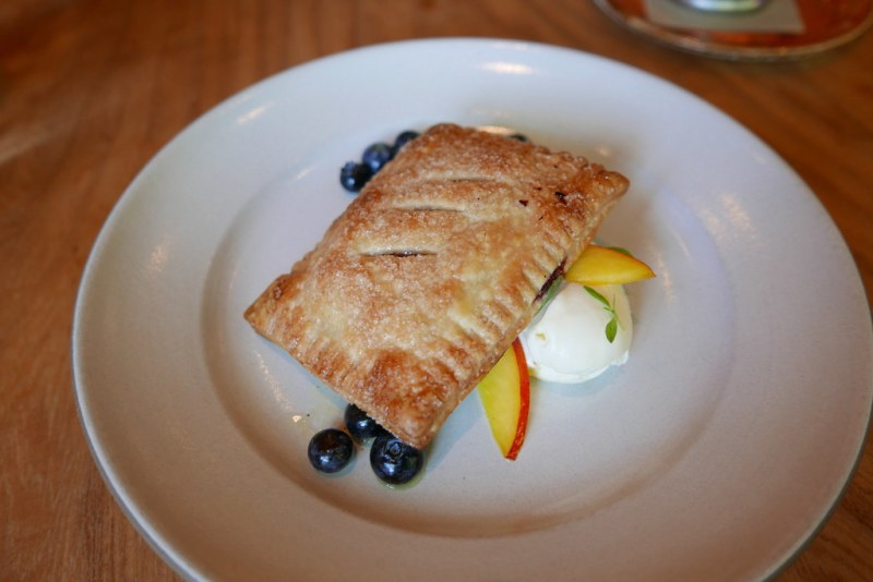 Italian 'Pop Tart, with blueberries, nectarines & honey mascarpone ($12)