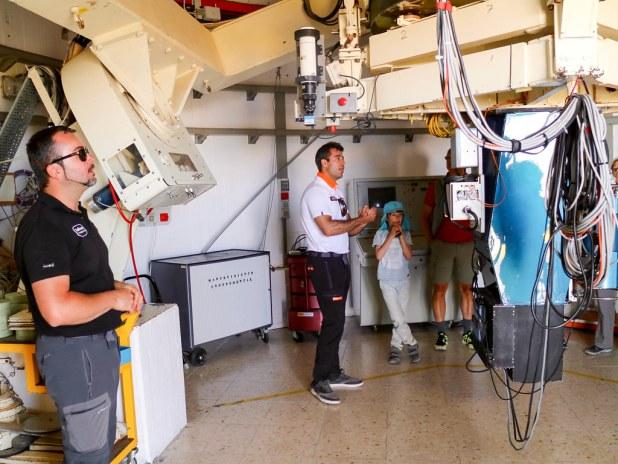 Visita al observatorio de Izaña
