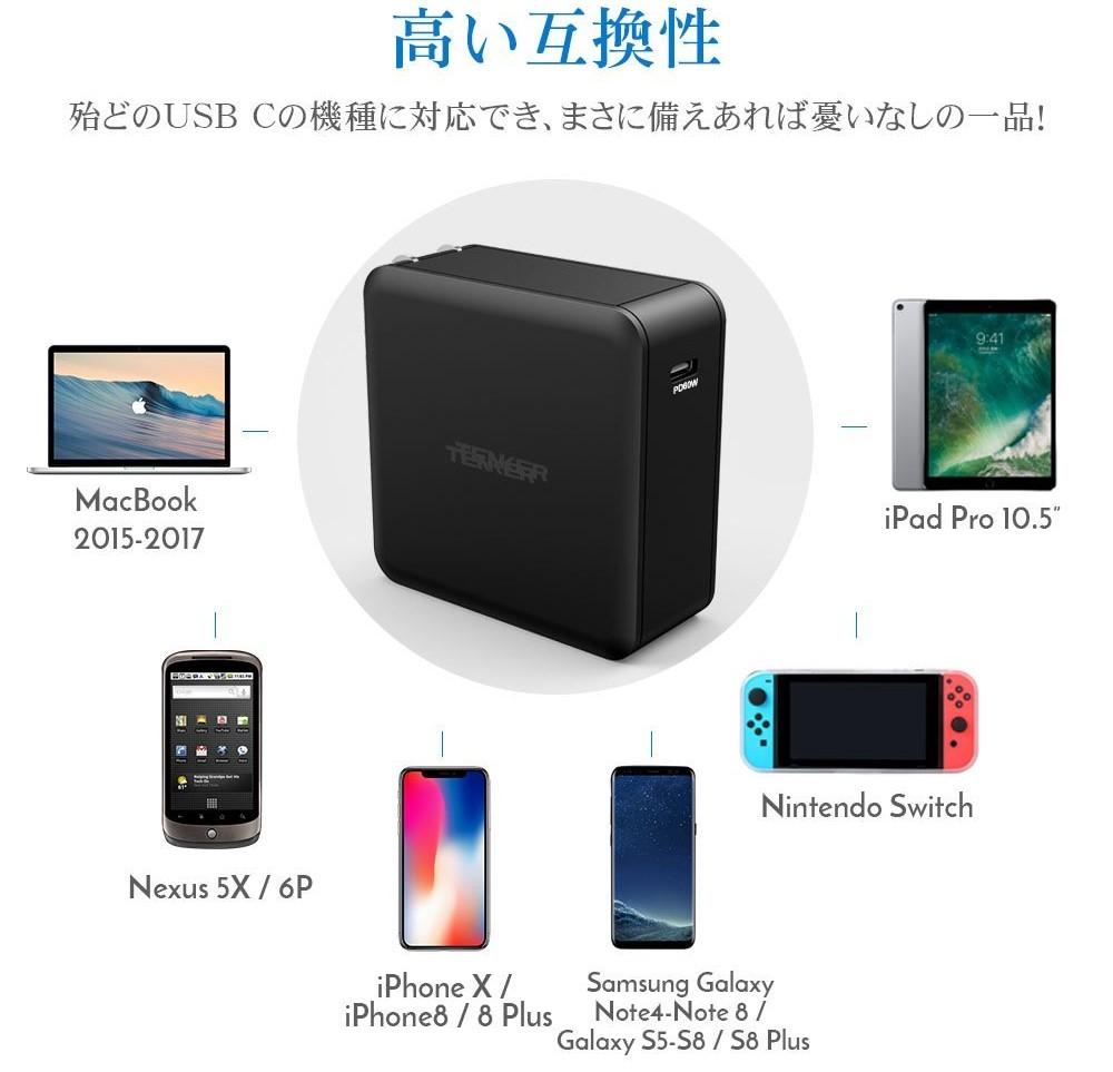 任天堂Switchを充電するのに最適な充電器はこれ!【TENKER USB PD 60W ...
