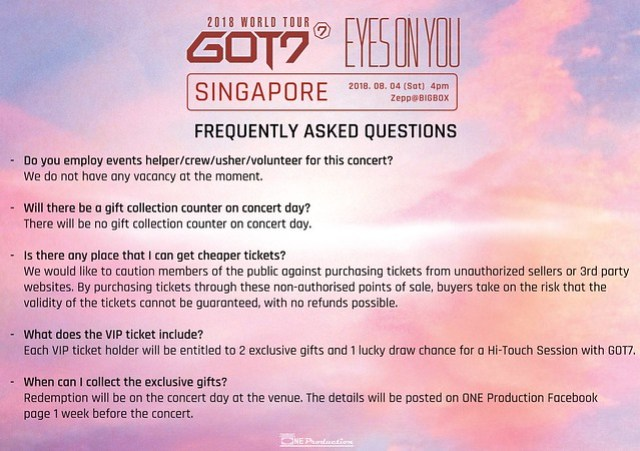 GOT7 'EYES ON YOU' WORLD TOUR IN SINGAPORE FAQ8