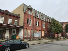 Group of vacant rowhouses, 1328-1336 Division Street, Baltimore, MD 21217