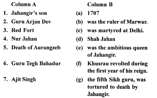 ICSE Solutions for Class 7 History and Civics - Jahangir, Shah Jahan and Aurangzeb-09
