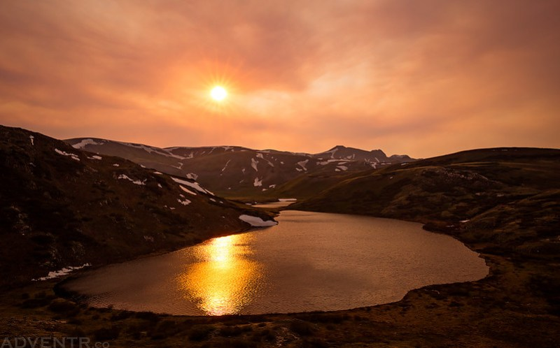 Sunburst Over The Verde Lakes