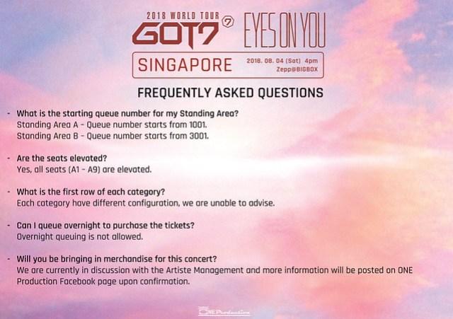 GOT7 'EYES ON YOU' WORLD TOUR IN SINGAPORE FAQ4