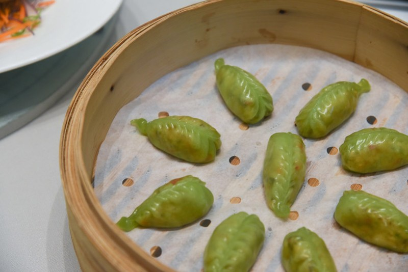 steamed vegetable dumplings - jade fullerton hotel dimsum