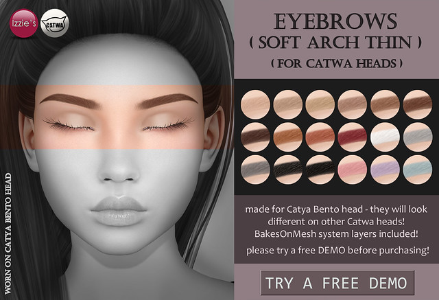 Catwa Eyebrows soft arch thin