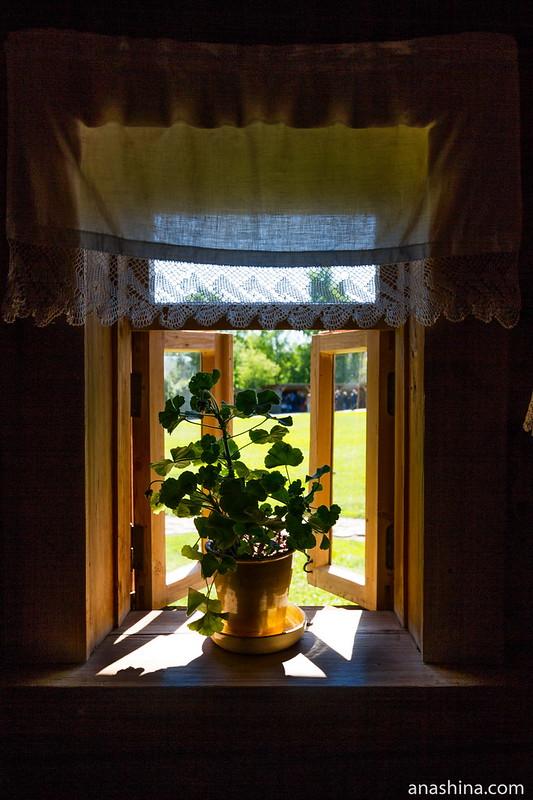 Окно, Музей деревянного зодчества, Суздаль