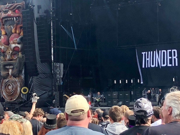 Sweep watching Thunder at Download Festival 2018