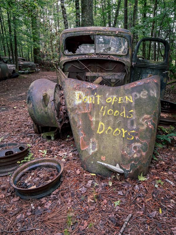 Don't open hoods doors