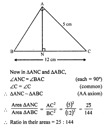 RD Sharma Class 10 Solution Chapter 4 Triangles
