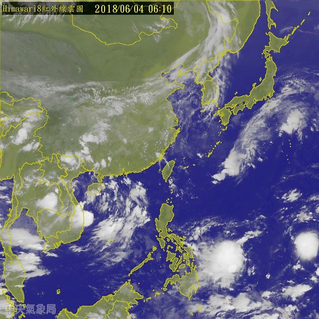 颱風,悶熱,輕颱型成
