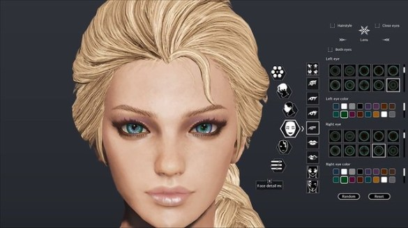 Bless Online Character Creation - Eyes