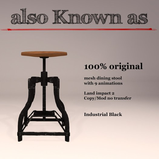 also Known as - Industrial Diningstools for Fly Buy Friday