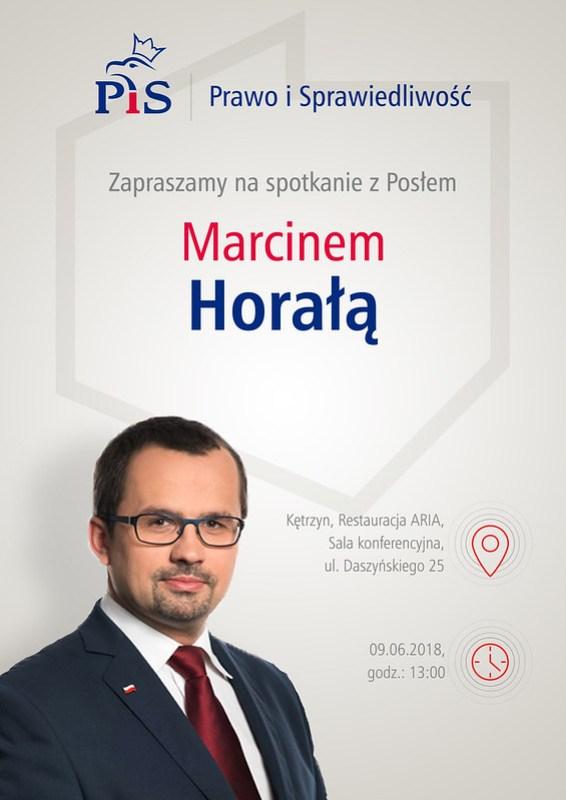 Plakat A3-Zaproszenie naspotkanie zMarcinem Horałą