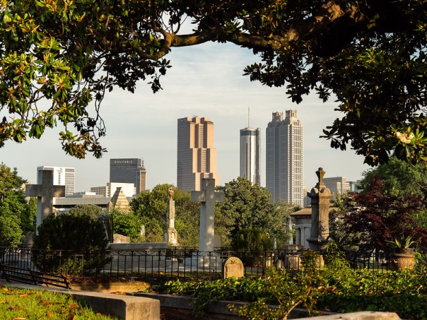 Atlanta Skyline from Oakland Cemetery