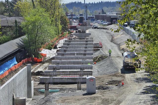 East Link construction along ERC