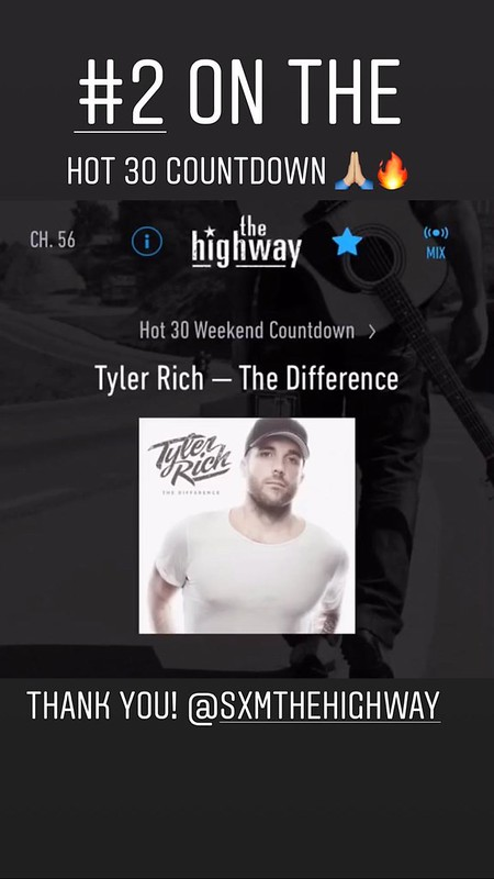 Tyler is #2 on The Highway