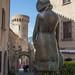 Estatua de niña. Tossa de Mar (Costa Brava)