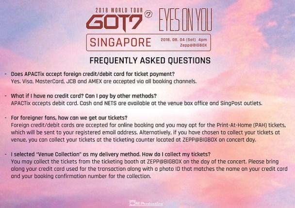 GOT7 'EYES ON YOU' WORLD TOUR IN SINGAPORE FAQ6
