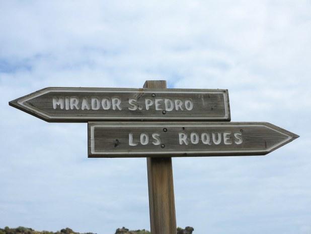 Camino hacia el mirador de San Pedro