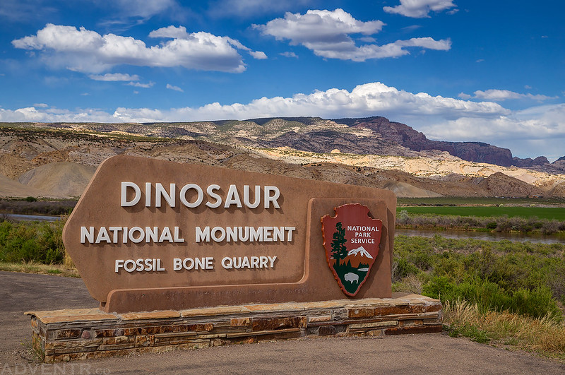 Dinosaur National Monument Sign