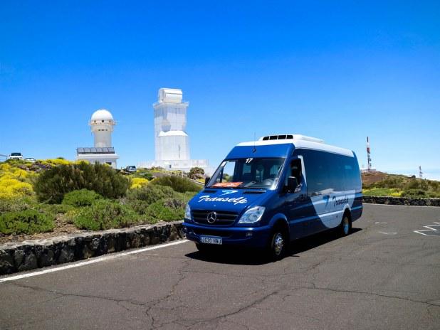 Entrada al observatorio del Teide