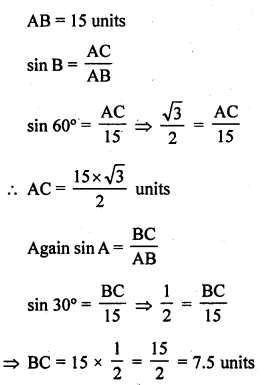 RD Sharma 10 Chapter 5 Trigonometric Ratios