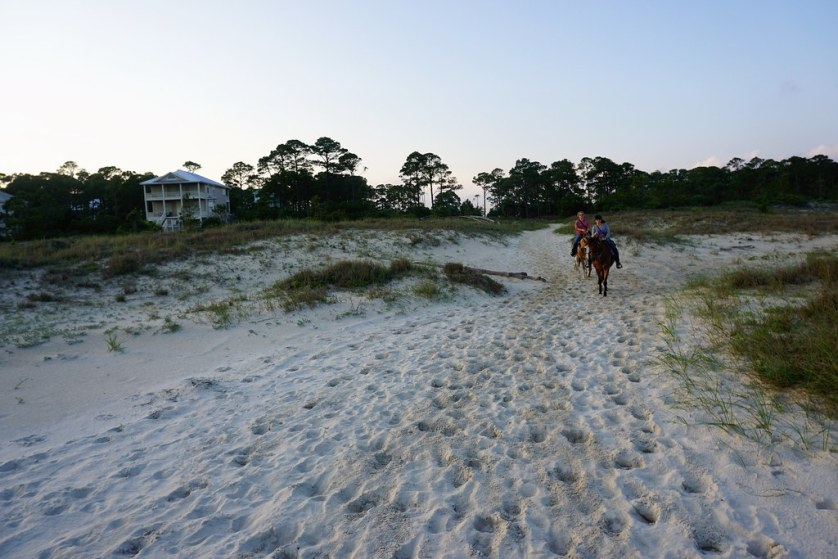 Riders Participated in a Ride on the Beach with Two-Bit Stables, Cape San Blas, Fla., May 18, 2018.