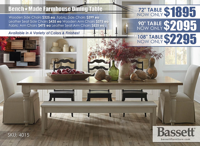 Farmhouse Dining Collection_Bassett_4015-4208D-Benchmade-SU17