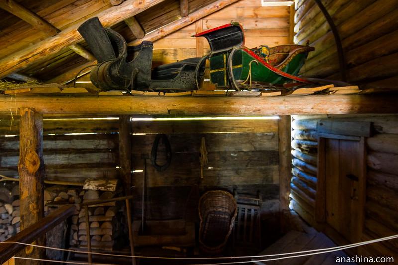Сани для выезда в город, Музей деревянного зодчества, Суздаль