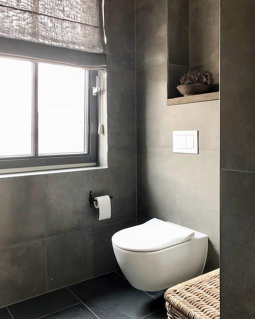 Badkamer toilet beton ciré