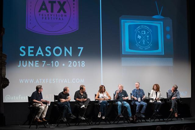 Moderator Bill Keith, Marshall Herskovitz, Edward Zwick, Polly Draper, Timothy Busfield, David Clennon, Melanie Mayron and Peter Horton