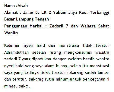 Walatra Zedoril Bersih 7 Kanker