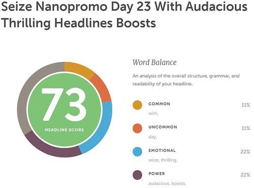 Day 23 #NaNoProMo Emotional Headlines @JLenniDorner 8