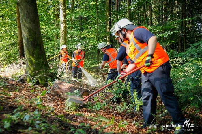 Waldbrandübung Wiesbaden 14.07.18