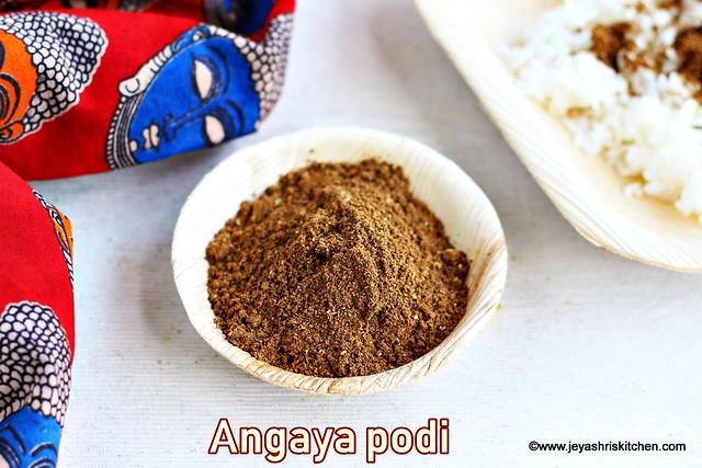 Angaya podi recipe