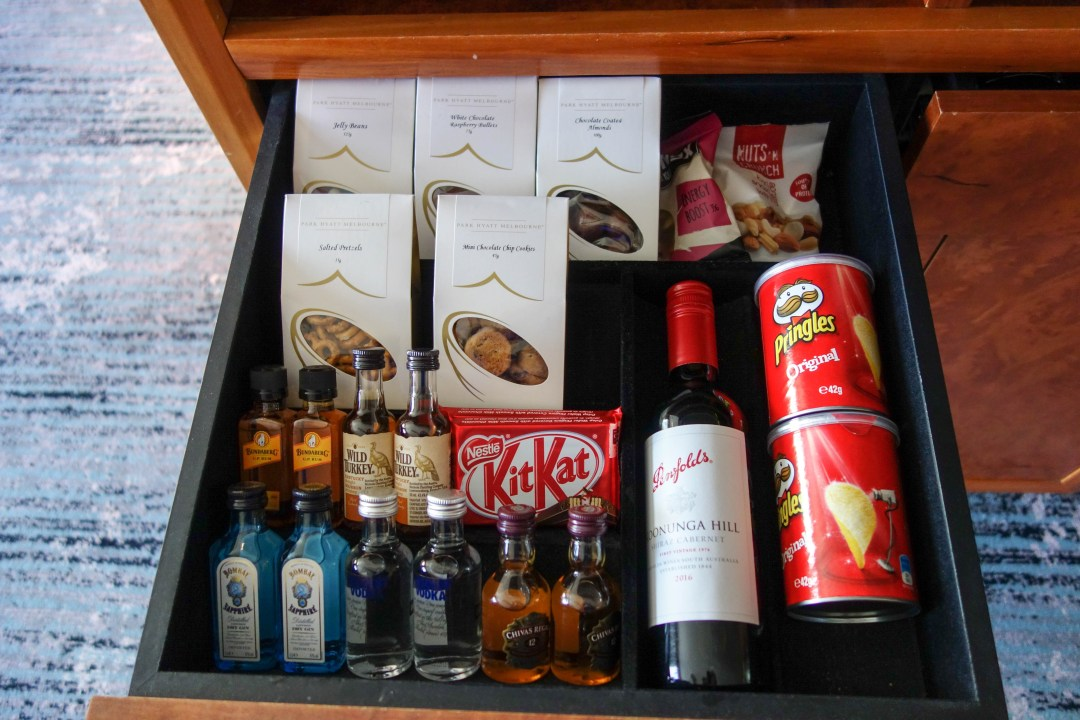 Minibar at the Park Hyatt Melbourne