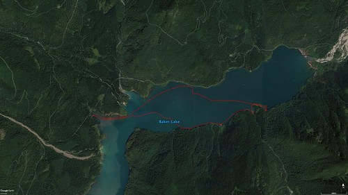 Baker Lake Paddle Route