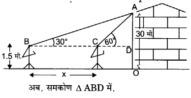UP Board Solutions for Class 10 Maths Chapter 9 Some Applications of Trigonometry 6